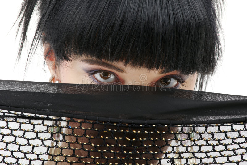 Download Black fishnet mystery stock photo. Image of headscarf - 4902150