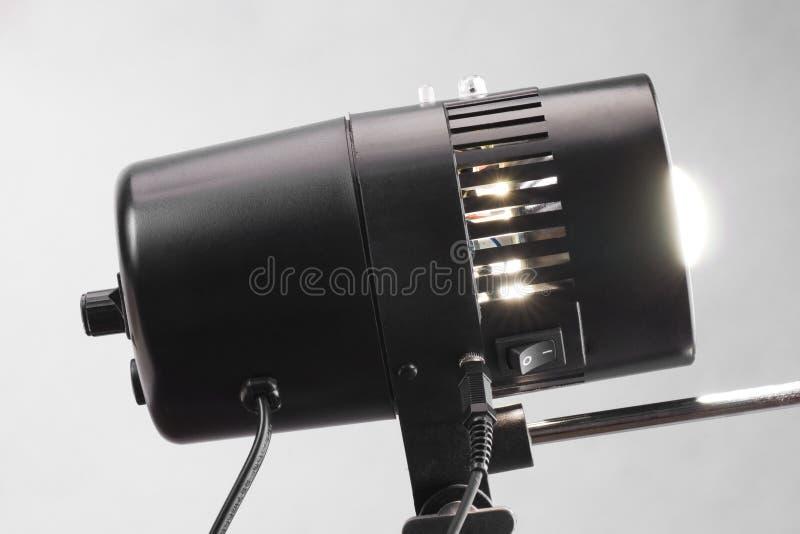 Black flash studio lamp stock photo