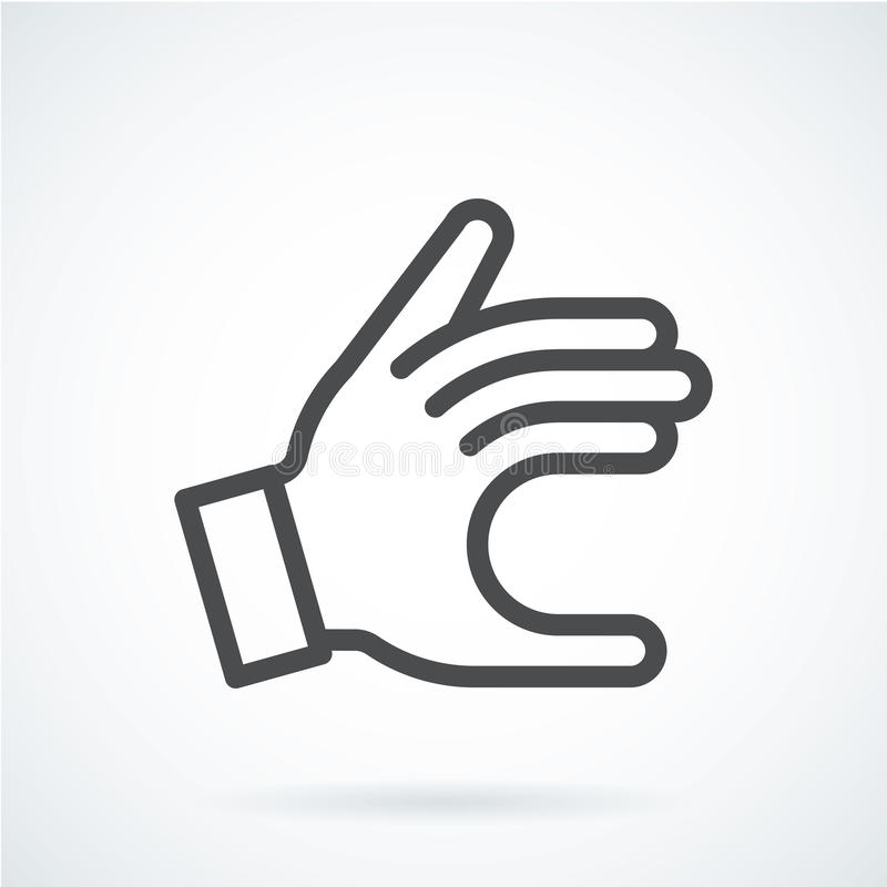 Black flat icon gesture hand of a human give. royalty free illustration