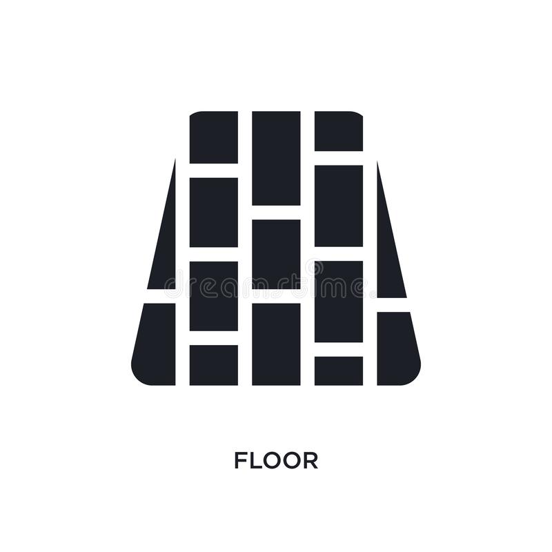 black floor isolated vector icon. simple element illustration from furniture & household concept vector icons. floor editable vector illustration