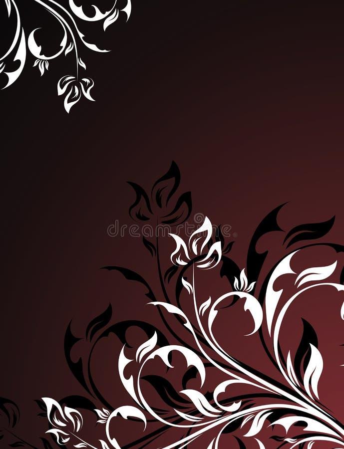 Black floral design vector illustration