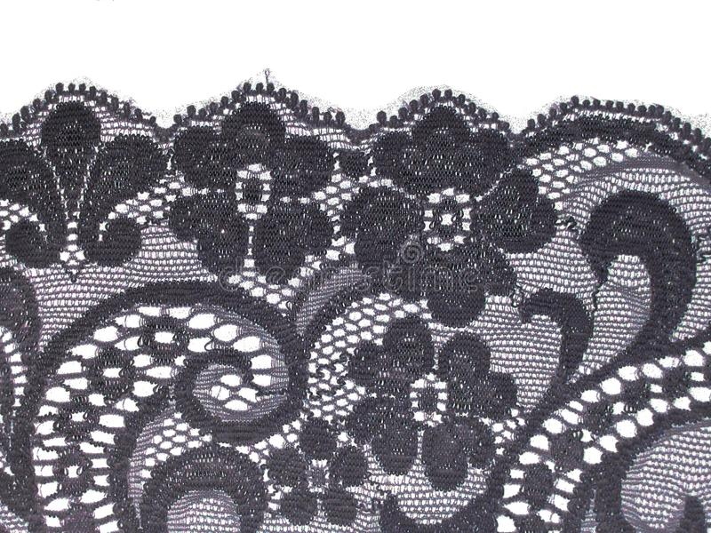 Download Black floral lace band stock image. Image of background - 24872689