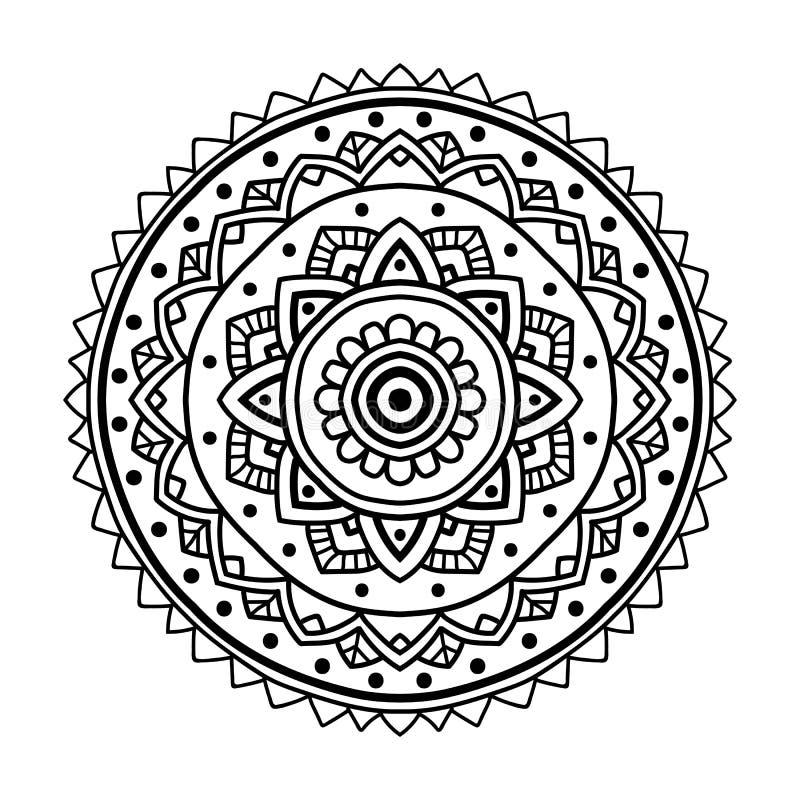 black floral mandala stock vector illustration of element 80435294. Black Bedroom Furniture Sets. Home Design Ideas