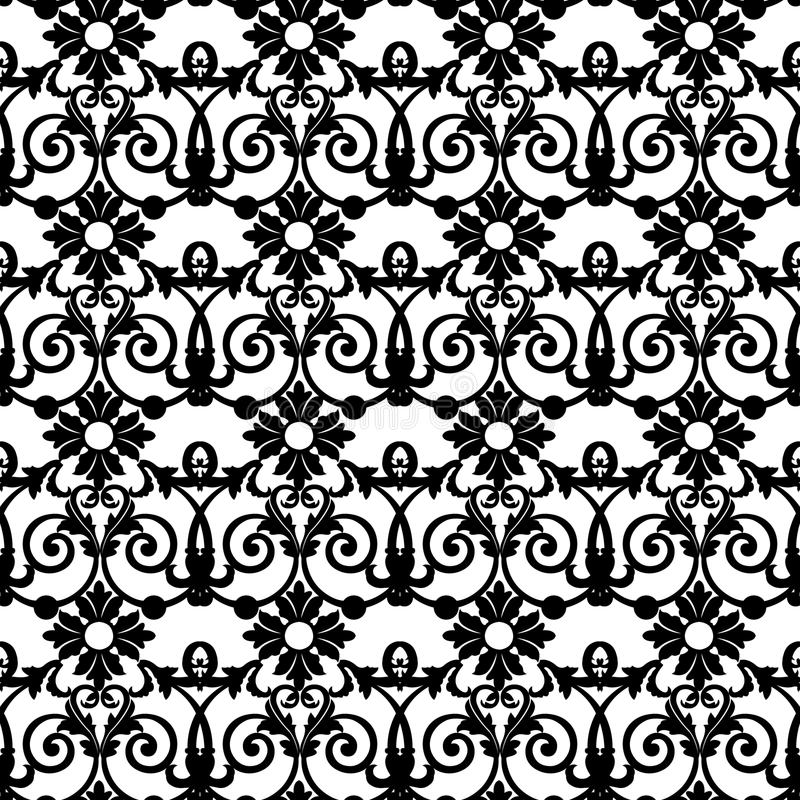 Black floral pattern royalty free illustration