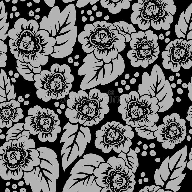 Download Black Floral Seamless Background Stock Vector - Illustration: 25501898