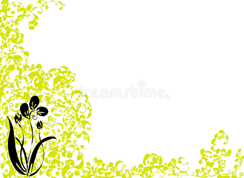 Download Black flower stock illustration. Image of blossom, hand - 519930