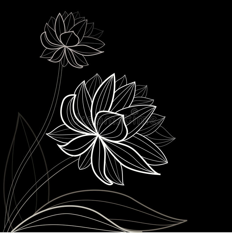 Download Black Flower Pattern Royalty Free Stock Images - Image: 20610229
