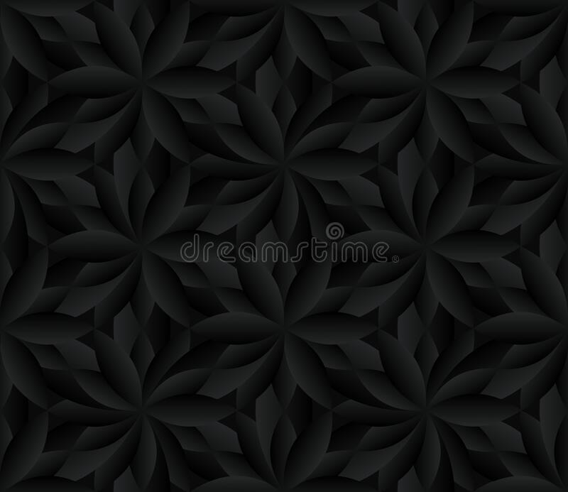 Black Flower Seamless Pattern Repeating Abstract Dark Floral Background Stock Vector Illustration Of Floral Wallpaper 177295043