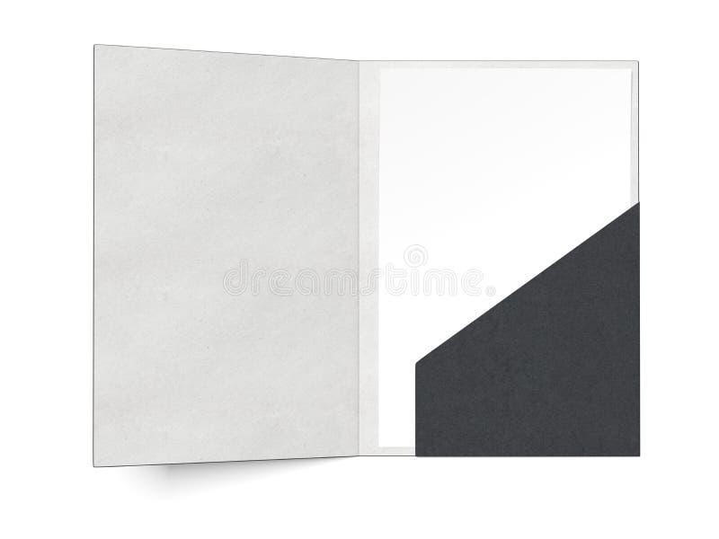 Black folder with a sheet royalty free illustration
