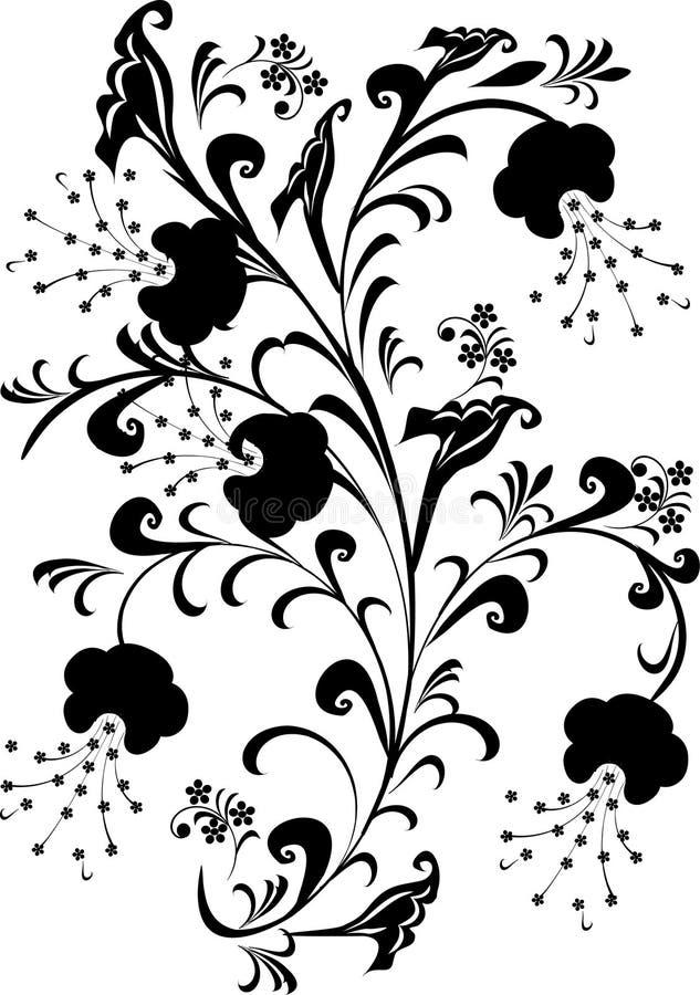 Black foliage decoration stock illustration