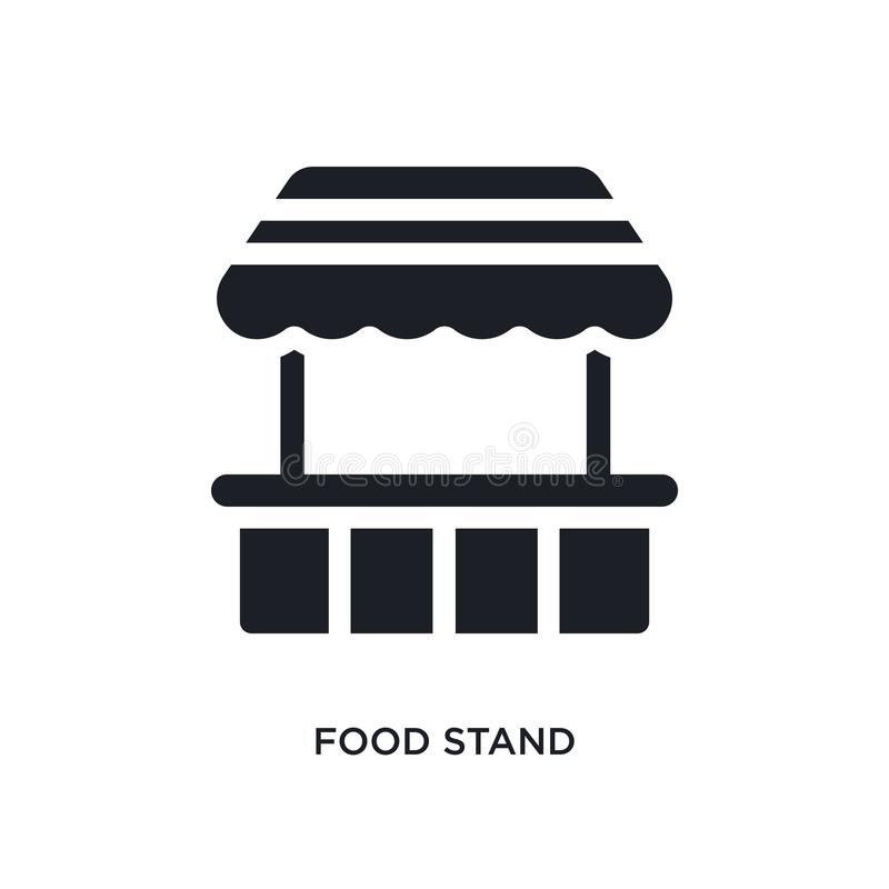 black food stand isolated vector icon. simple element illustration from travel 2 concept vector icons. food stand editable logo vector illustration