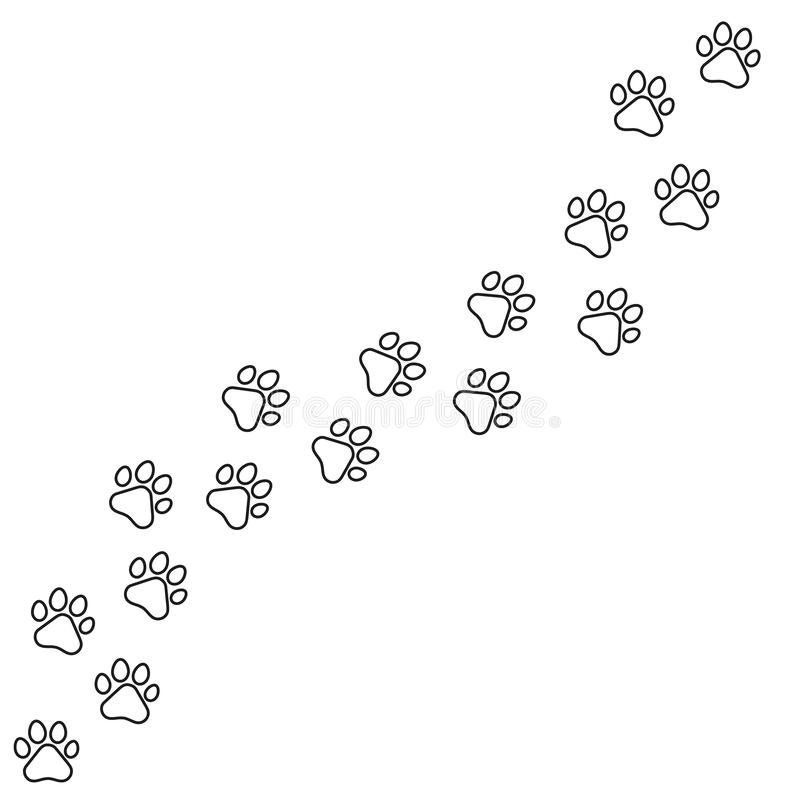 Feather vector icons Set. feather icon illustration.Black footprints of dogs. Paw print, animal tracks – stock vector vector illustration