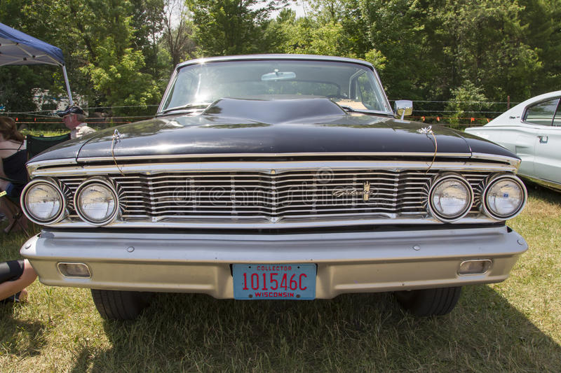 1954 Black Ford Galaxie Front View royalty free stock photos
