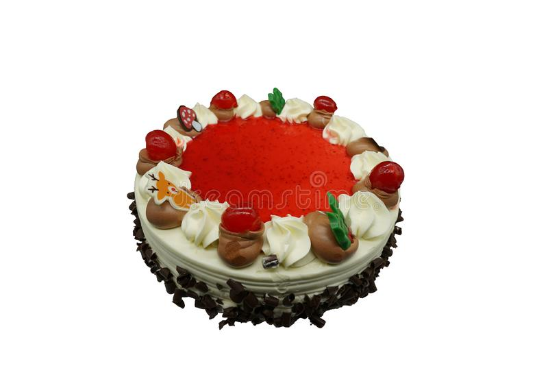 Birthday and love even black forest cake stock photos