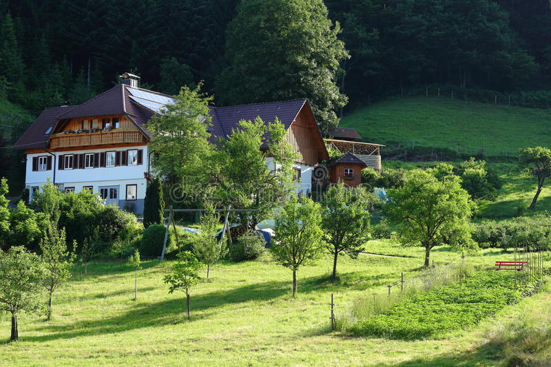 Black Forest homestead. The traditional estate of a homestead hillside in the Black Forest national park in Germany royalty free stock photos