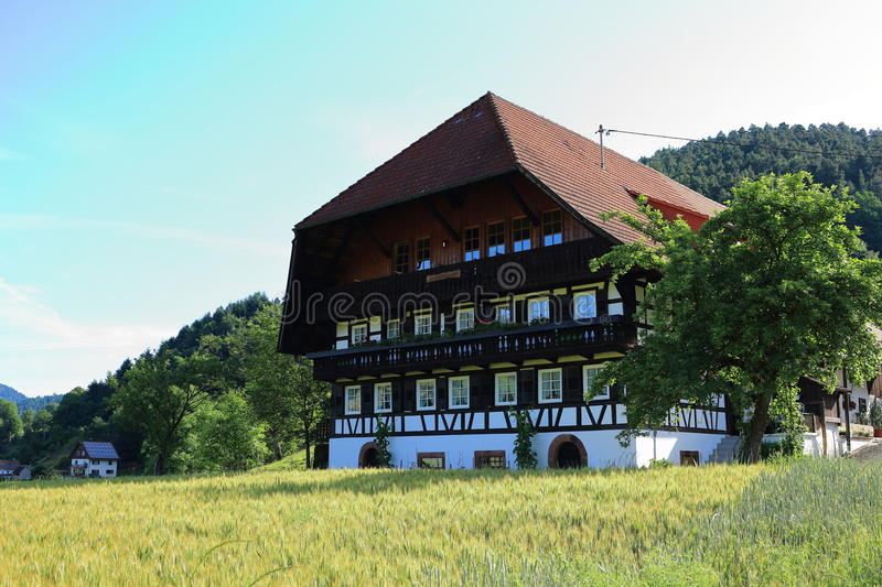 Timber-framed Black Forest house traditional living. The traditional architecture of a farm house at a village in the Black Forest national park, Germany. A stock images