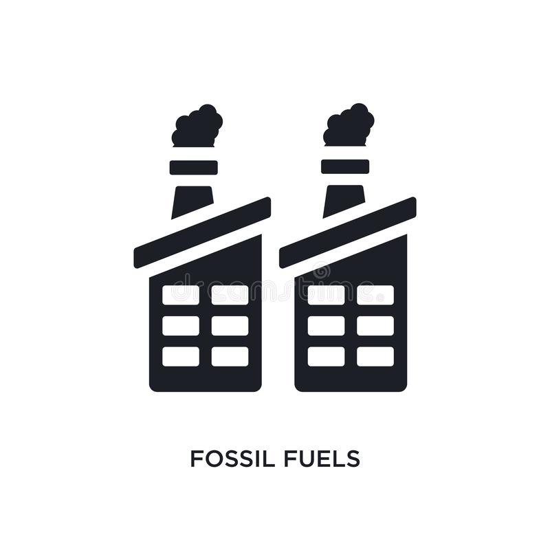 black fossil fuels isolated vector icon. simple element illustration from industry concept vector icons. fossil fuels editable vector illustration