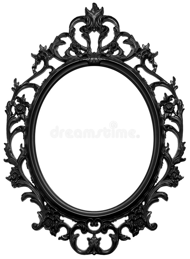 Black frame. Black wooden frame for mirror or portraits vector illustration