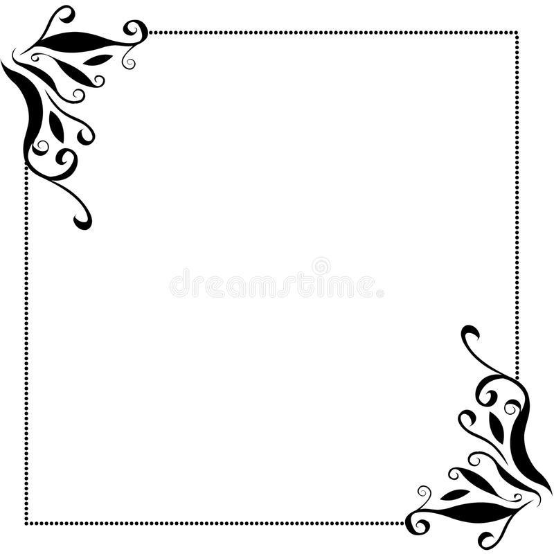 Black frame borders stock illustration Illustration of fancy 82524616