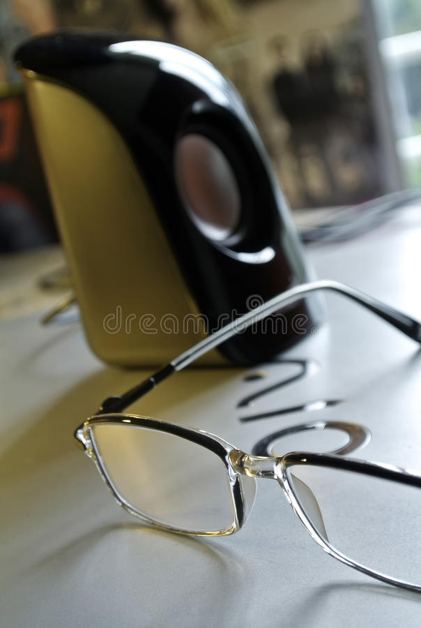 Black Frame Eyeglass Beside Black And White Electric Kettle Free Public Domain Cc0 Image