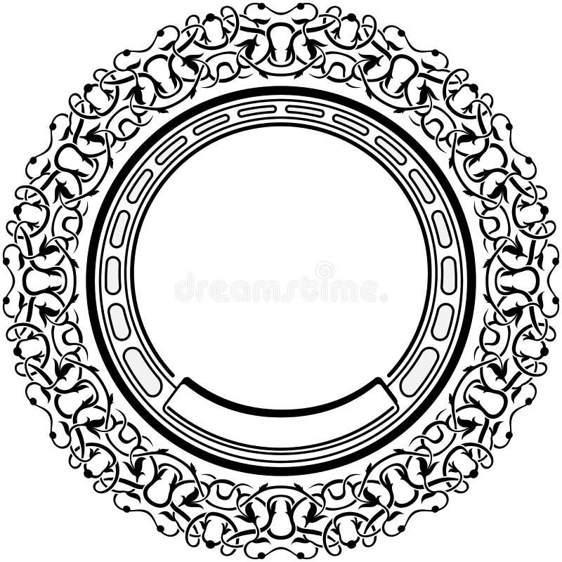 Black frame. With ornamental border vector illustration