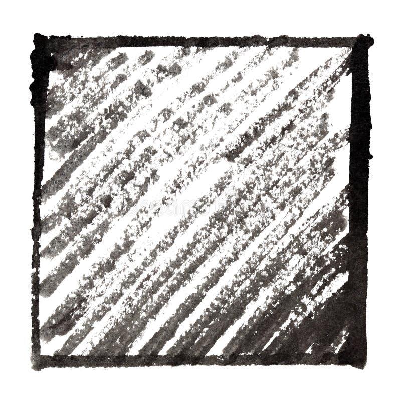 Black frame with shading royalty free illustration