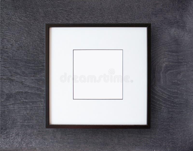 Black frame on wall stock photos