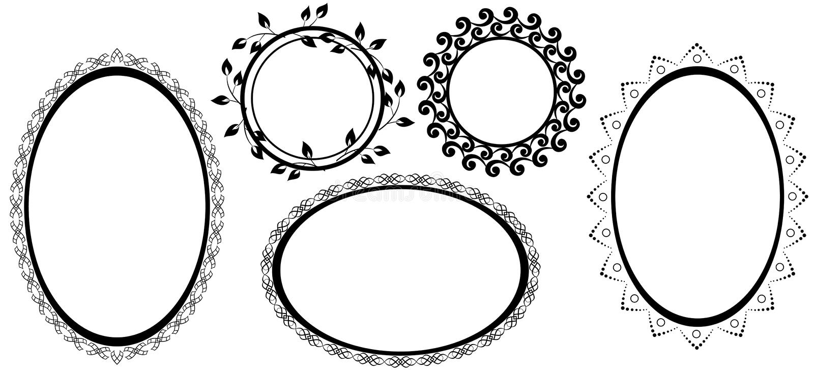 Download Black Frames With Tracery - Vector Stock Vector - Image: 17702235