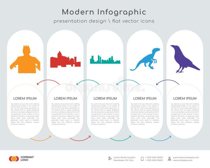 Black Frankenstein Infographics Design Stock Illustration