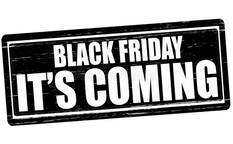Black Friday él el venir de s stock de ilustración