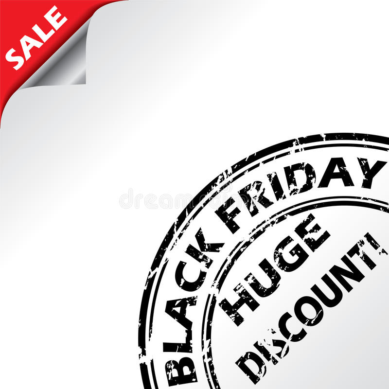 Download Black Friday Advertising With Grunge Seal Stock Vector - Illustration: 27675147