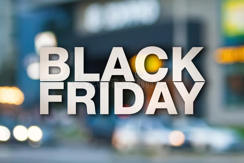Black Friday affisch arkivbild