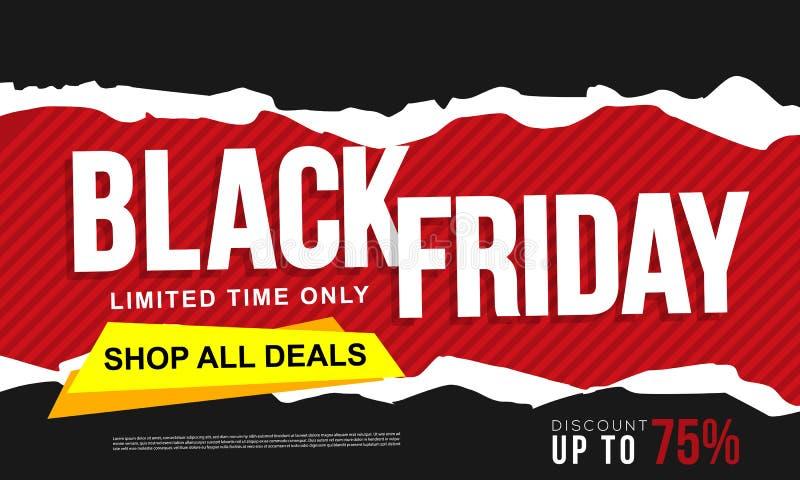 Black friday banner ads template. Eps10 vector illustration