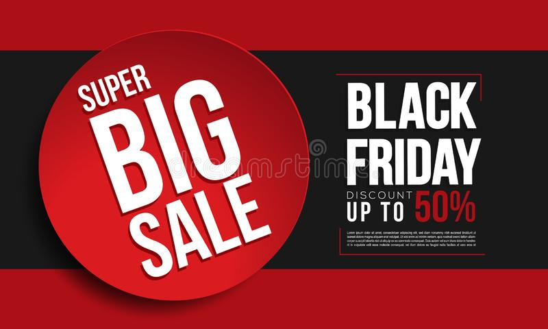 Black friday banner ads template. Eps10 royalty free illustration