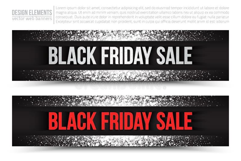 Black Friday-Banner van het Verkoop de Vectorweb royalty-vrije illustratie