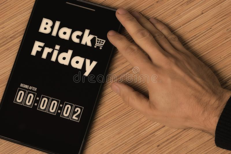 Black Friday. Begins after royalty free stock images