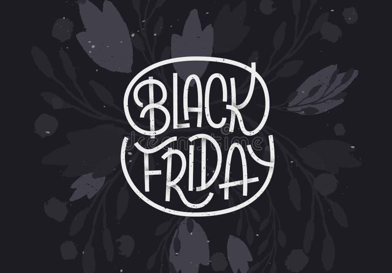 Black Friday-Beschriftung auf dunklem Hintergrund lizenzfreie abbildung