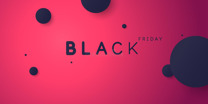 Black friday. Big sales. Bright abstract background of minimalist style. Vector illustration. stock illustration