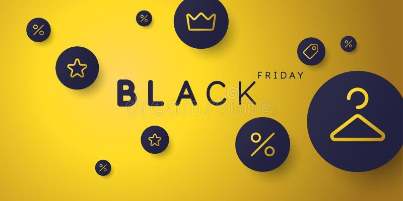 Black friday. Big sales. Bright abstract background of minimalist style. Vector illustration. vector illustration