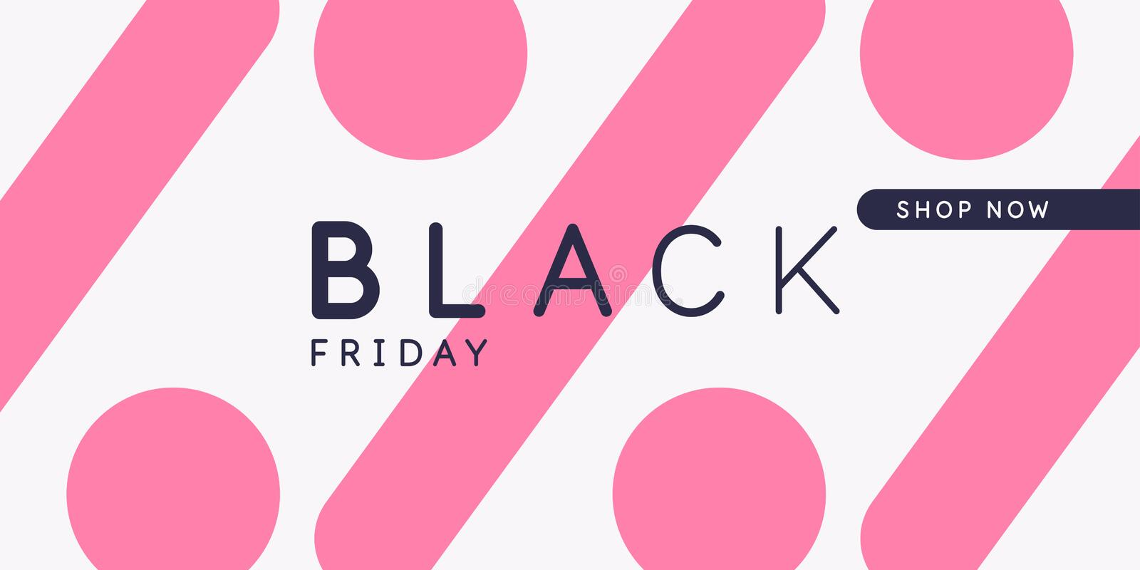 Black friday. Big sales. Bright abstract background of minimalist style. Vector illustration. royalty free illustration