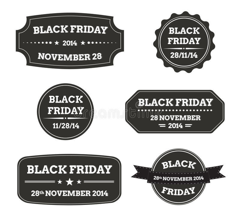 Download Black friday black labels stock vector. Image of business - 35347034