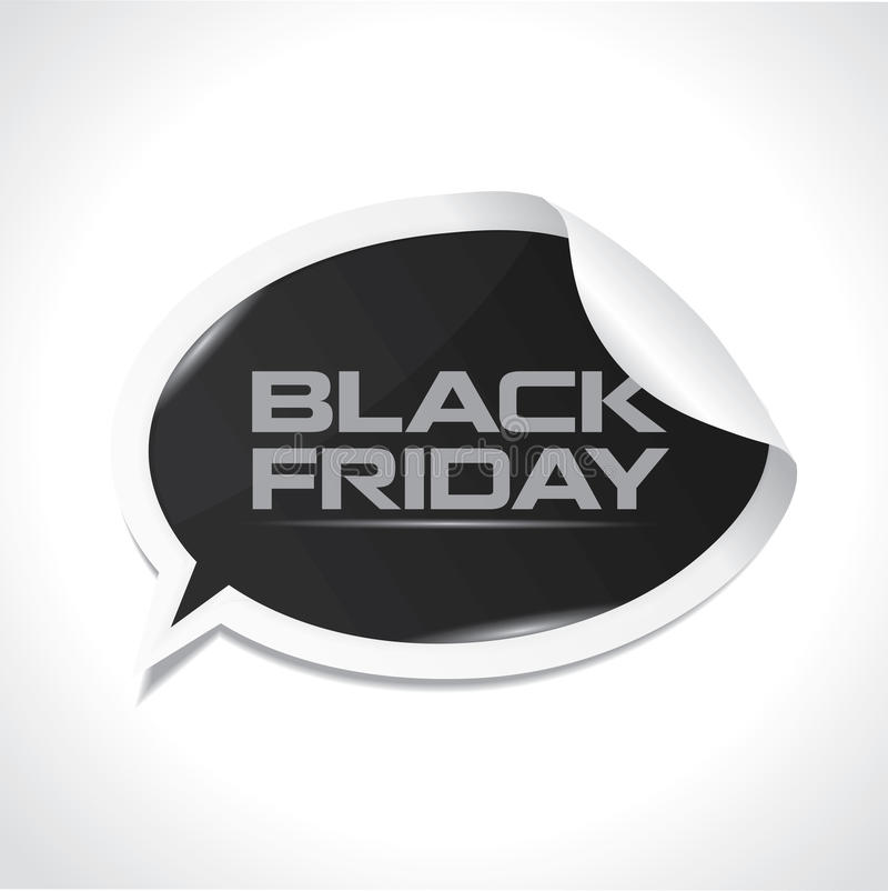 Black Friday Bubble Sticker Royalty Free Stock Images