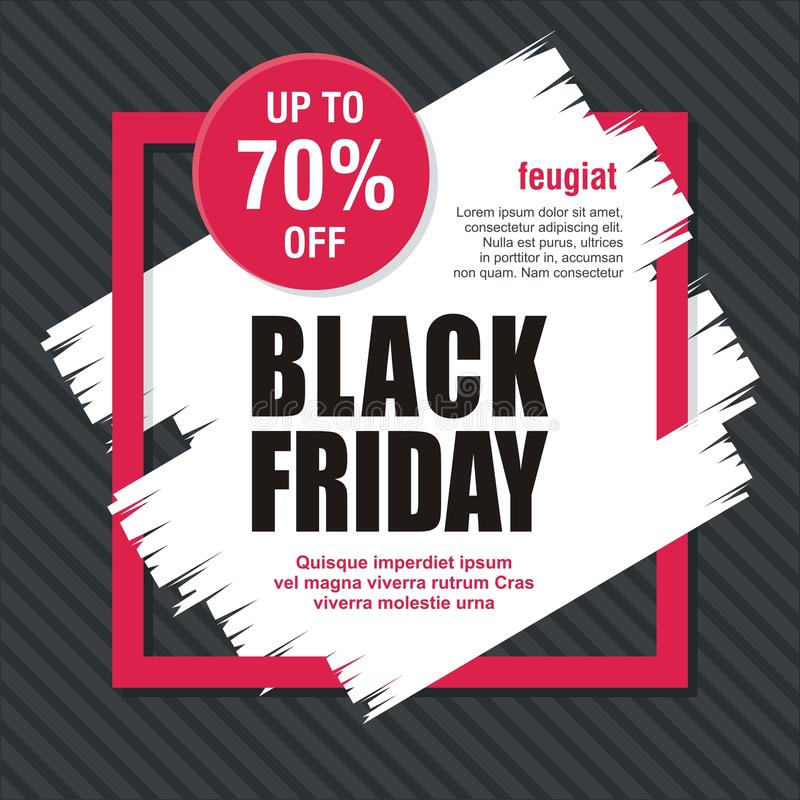 Black Friday Card, Banner, Poster with modern design stock images