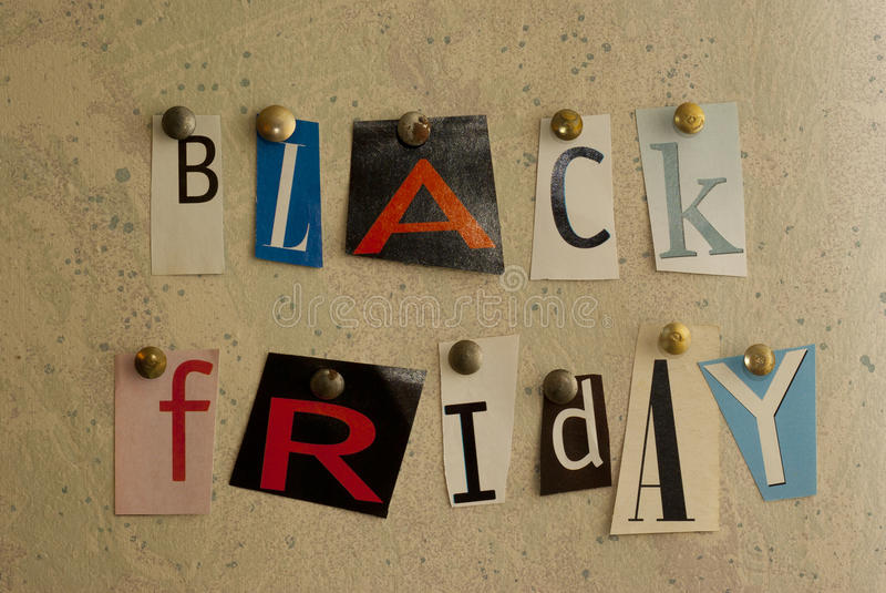 Black Friday ciie outs zdjęcia royalty free