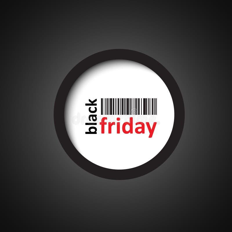 Black friday circle sign stock illustration