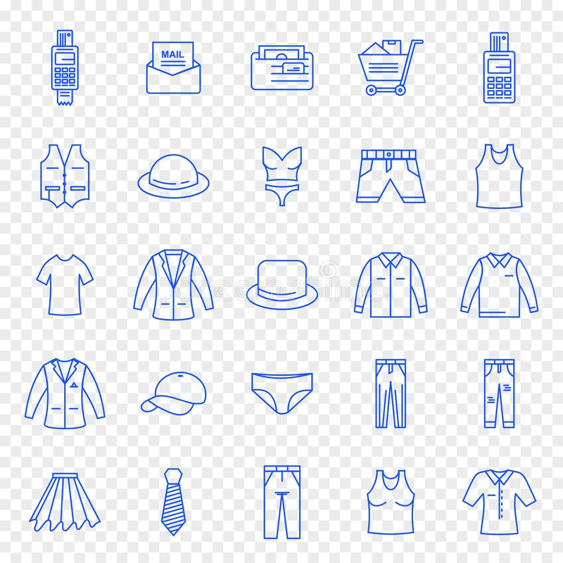 Black Friday Cloth Fashion Shopping Icon set. 25 Icon set for Website and Application royalty free illustration