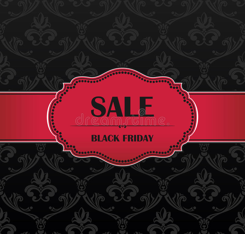 Black Friday collection sale banner stock illustration
