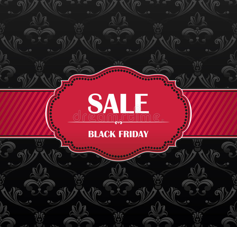 Black Friday collection sale banner royalty free illustration