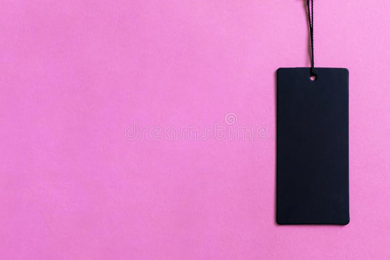 Black Friday concept. Black Friday sale tag on pink royalty free stock photos