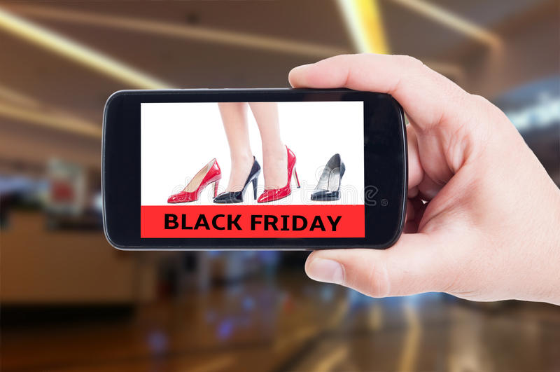 Black Friday-concept voor de hoge schoenen van hielvrouwen royalty-vrije stock foto's